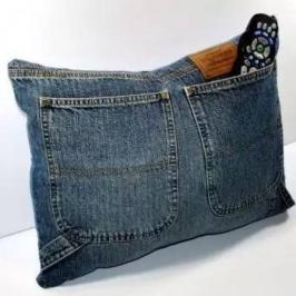 organizador de controle remoto de jeans
