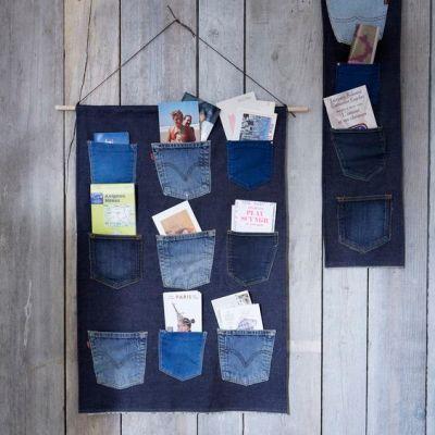 organizador de correspondencia de jeans